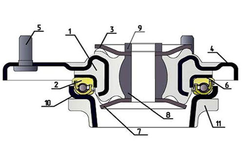 Схема опоры ТМ АСОМИ в разрезе